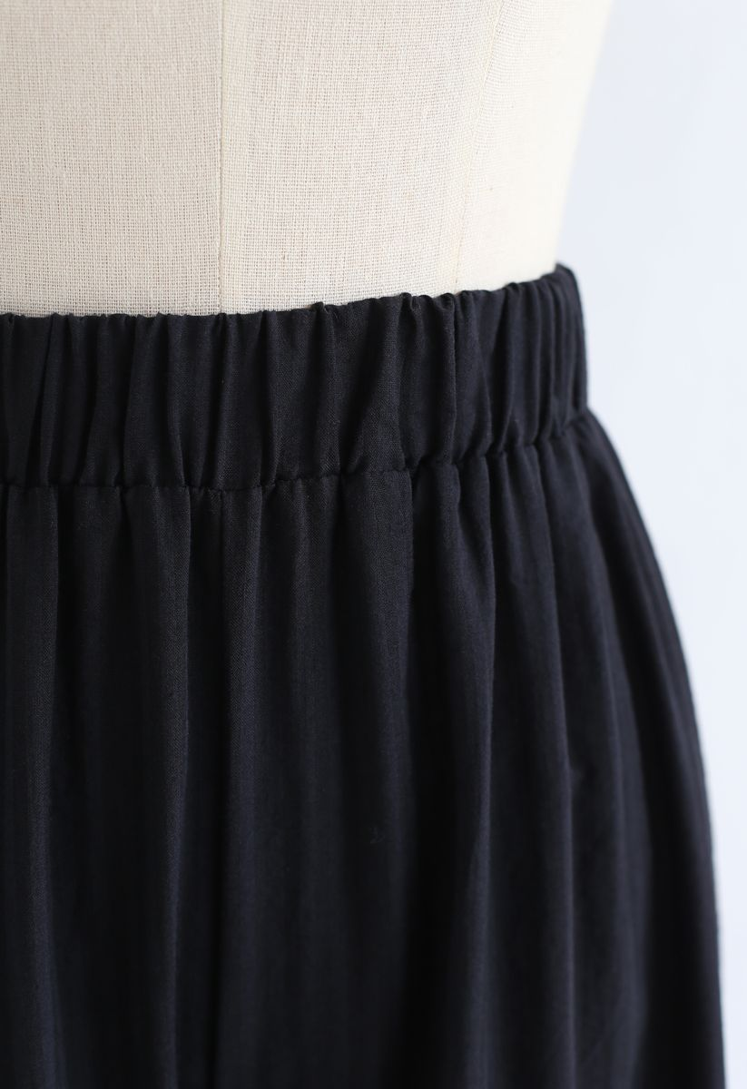 Sunny Days Wide-Leg Pants in Black