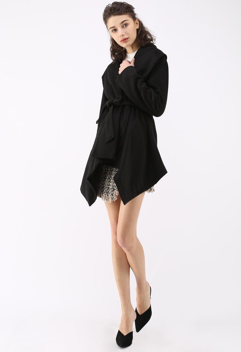 Prairie Rabato Coat in Black