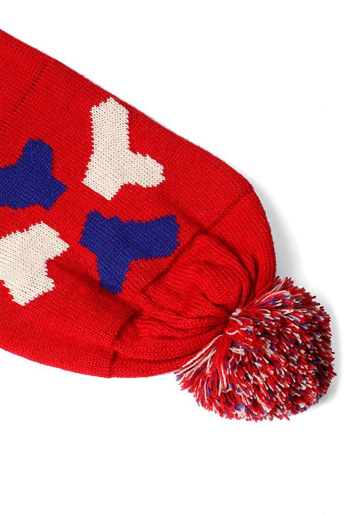 Merrymaking Moment Pom-Pom Knit Scarf