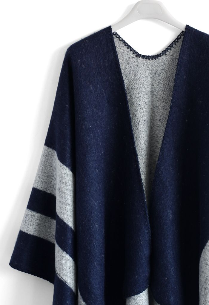 Winsome Blue Blanket Cape