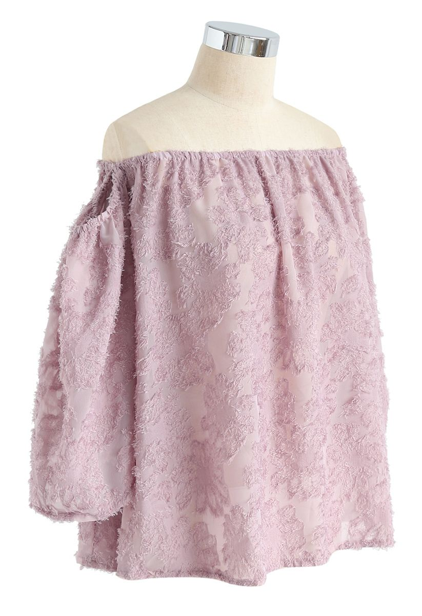 Best in Bloom Floral Tassel Off-Shoulder Top in Pink