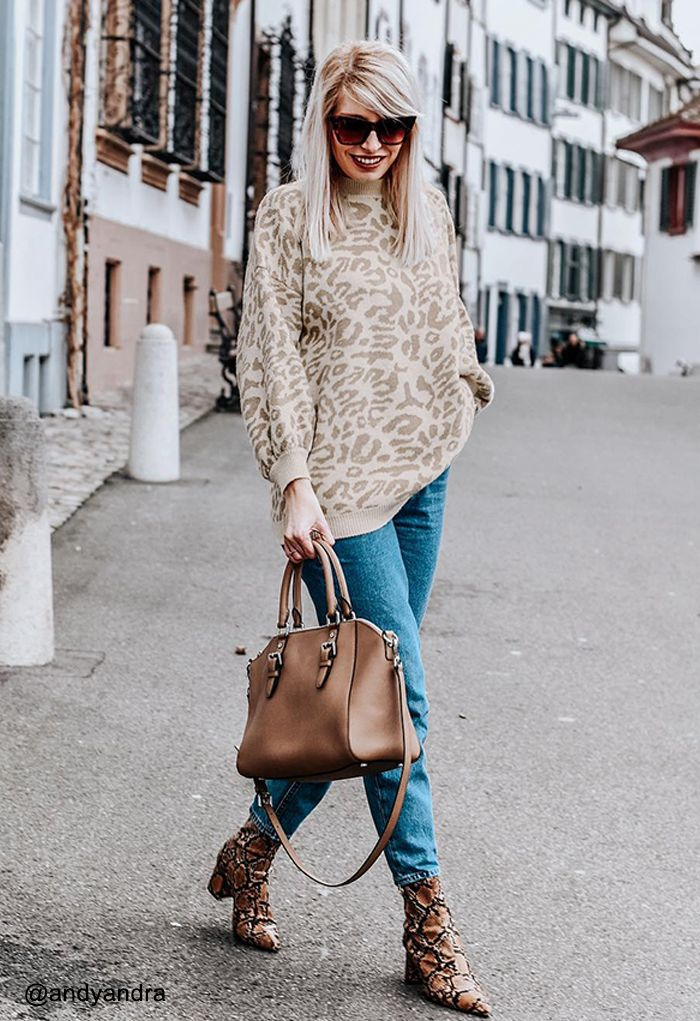 It's the Good Life Leopard Oversize Sweater