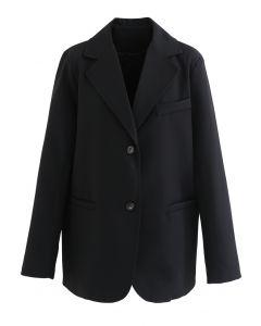 Basic Pockets Blazer in Black