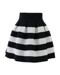 Contrast Strips A-line Skirt