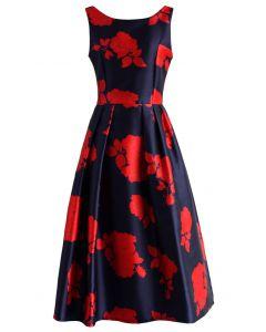Rose Impression Prom Dress in Navy