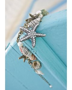 Conch Starfish Pearl Bracelet