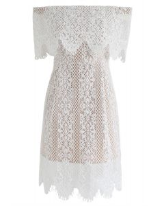 Wishing for Romance Off-Shoulder Lace Dress