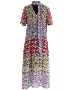 Meet Me In Flower Land Chiffon Dress