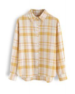 Peppy Plaid Long Sleeves Shirt in Mustard